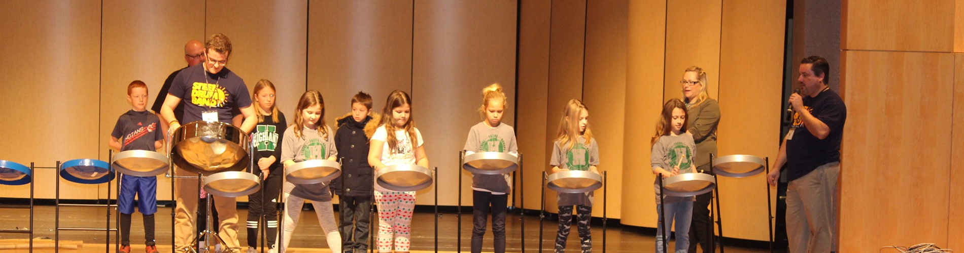3rd Graders Work with Members of Akron Steel Drum Band