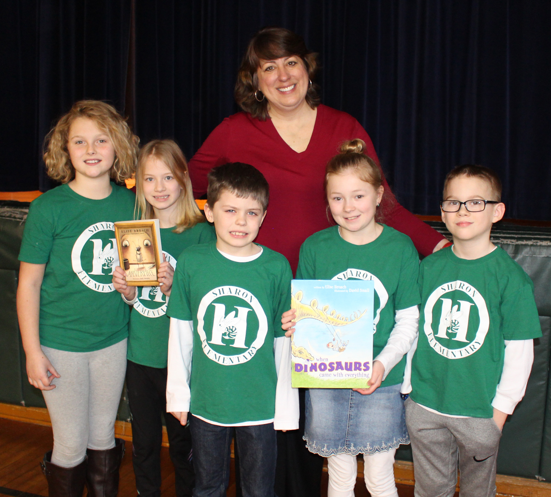 Book Author with Sharon Students