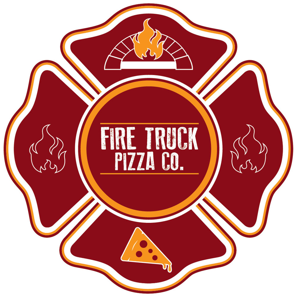 Fire Truck Pizza Logo